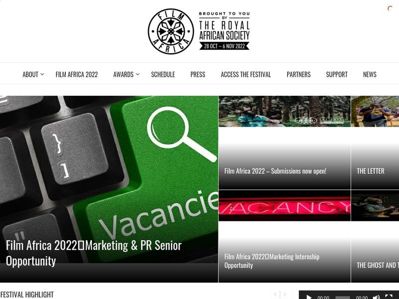 Screenshot von http://www.filmafrica.org.uk/